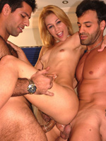 Blonde Latina Enjoys Having Both Her Holes Stuffed With Latin Cock