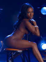 Black Stripper Hoe Jen Johnson (from Idlewild) Struts Her Black Naked Body On Stage