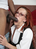 MILF Hoe Shannon Kelly Is A Cougar On The Prowl For Interracial Action.  She Gets Nailed By A Long Black Schlong And Then Drains All His Cum