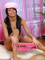 Sexy Latina Club Teen Zenia Keeps Her Silly Hat On While She Undresses