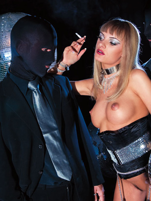 Horny Go-Go Dancer Angelique Morreau Gets Locked In The Fetish Club And Fucked By Masked Men
