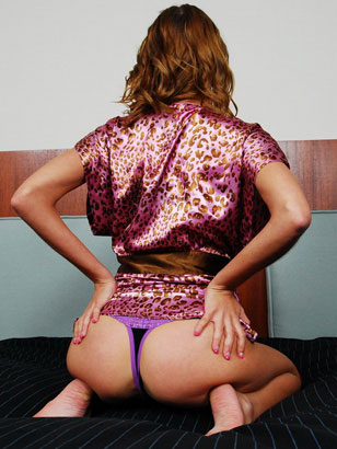 Smoking Hot Teenager Megan Powers Flaunts Her Purple Panties In A Leopard Print Silk Robe And Fingers Her Tight Shaved Teen Snatch