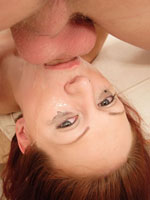 Redhead Whore Likes Rough Sex And Getting Her Throat Filled.  This Fucking Bitch Swallowed Cock Like A $2 Whore, Chocking And Gagging Until Her Make-up Ran And His Cock Was Wet With Slobber And Drool.