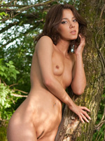 Naked Brunette Teen Victoria A Frolics Nude In The Forest